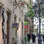 Dohánybolt cégér, Váci utca, Régiposta utca sarok, Budapest