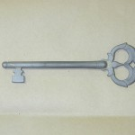Felújított kapu a XVIII századból - kulcs
