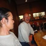 Mitsuo san és Shin chan egy kiállítás utáni vacsorán