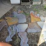 Bébi stregosaurust formázó pad készítési fázisai