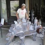 Bébi stregosaurust formázó pad készítési fázisai 04